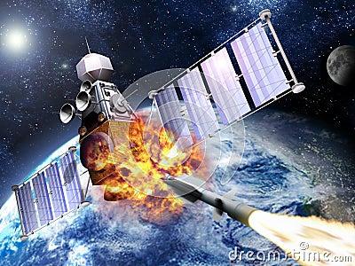 Military Satellite explosion