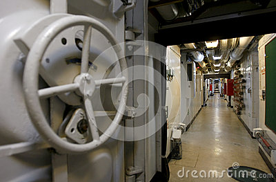 Military ship interior