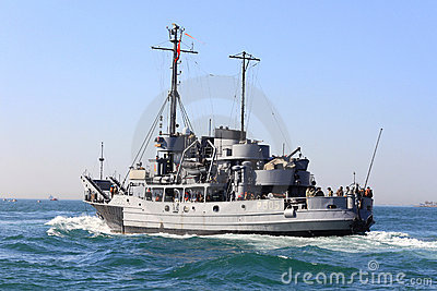 Military Ship, net tender Editorial Photo
