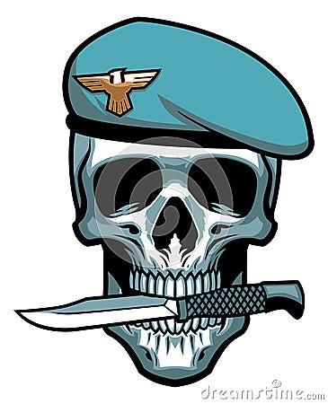 Free Military Skull Bite A Dagger Stock Images - 36104974