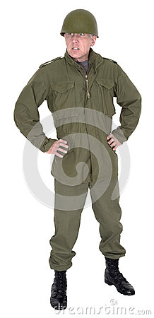 Military Soldier Army Officer Leader Isolated