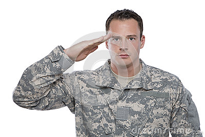 Military Soldier Salutes