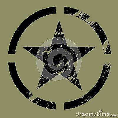Military Star Symbol black