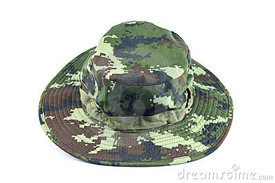 Military style hat.