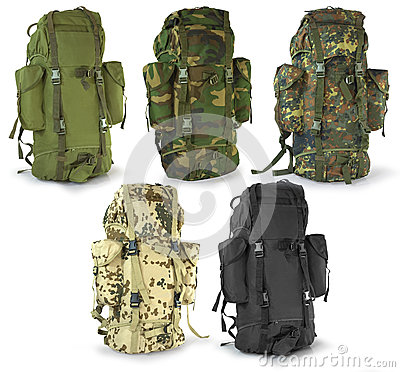 Military or survival  hunters  backpacks set