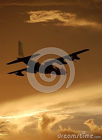 Free Military Transport Airplane Stock Image - 3337151