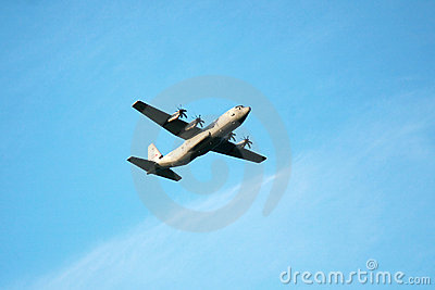 c 130 military transport aircraft  Stock Photography: Military Transport