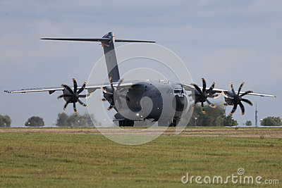 Military transporter Airbus A400M Editorial Stock Photo