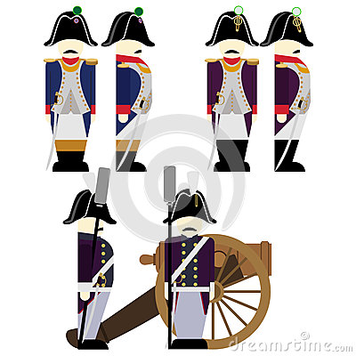 Free Military Uniforms Army France In 1812-7 Stock Photography - 69760472