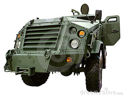 Military vehicle armed