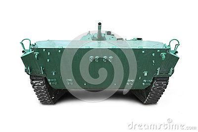 Military vehicle on tracks