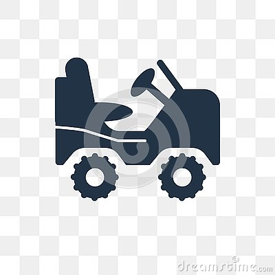 Military vehicle vector icon isolated on transparent background, Military vehicle transparency concept can be used web and mobile Vector Illustration