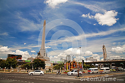 Military Victory Monument in Bangkok Editorial Photography