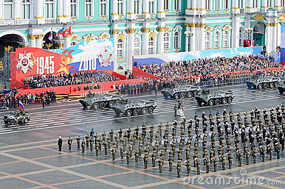 Military Victory parade. Editorial Image