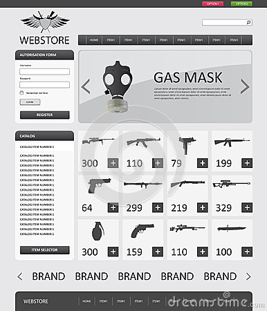 Webstore Template. webstore psd template by sylographix on ...