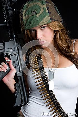 Free Military Woman Stock Photo - 10017700