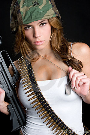 Free Military Woman Royalty Free Stock Photography - 10565737