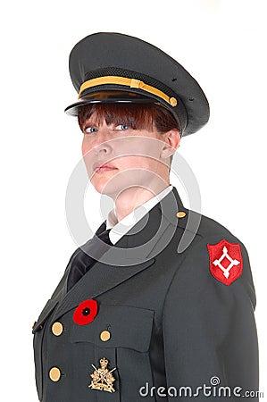 Military woman.