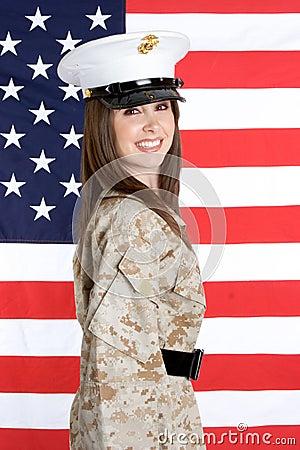 Free Military Woman Royalty Free Stock Photos - 5026468