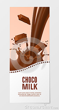 Free Milk 3d Vector Illustration. Business Choco Splash Royalty Free Stock Images - 73369829