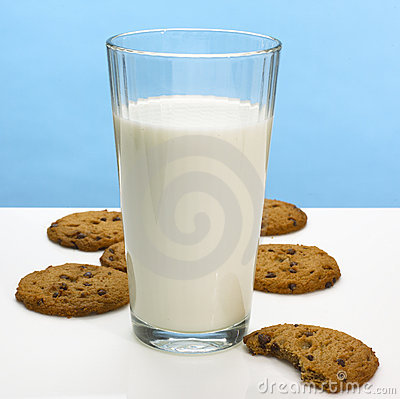 Free Milk And Cookies Royalty Free Stock Image - 1157086