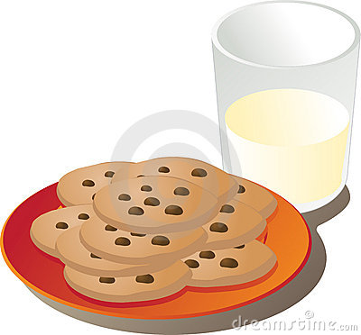 Free Milk And Cookies Stock Photos - 5458303