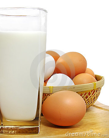 Free Milk And Eggs Royalty Free Stock Photos - 3726348