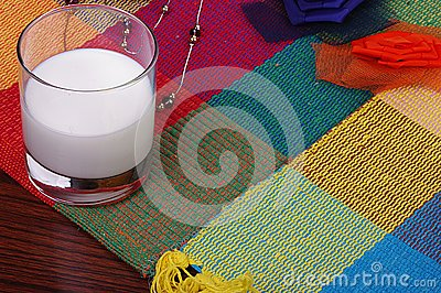 Milk on blanket