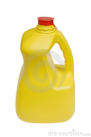 Milk Bottle with Clipping Path