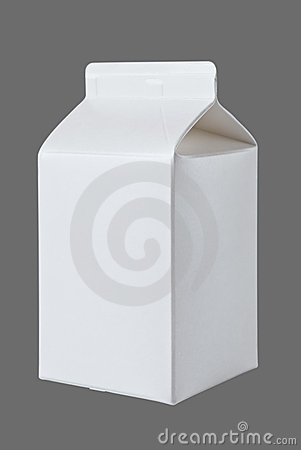 Milk Box per half liter on gray