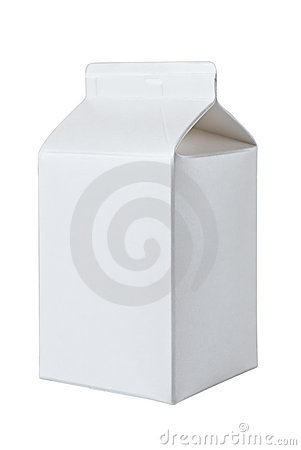 Milk Box per half liter on White