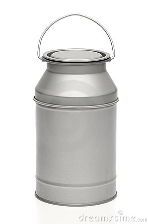 Milk canister. Milk container