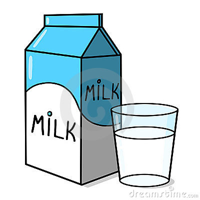 Milk carton and a glass of milk illustration