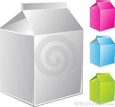 Milk carton package of different color