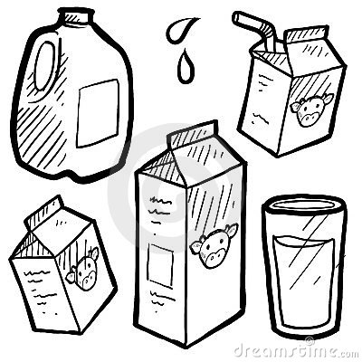 Milk cartons sketch