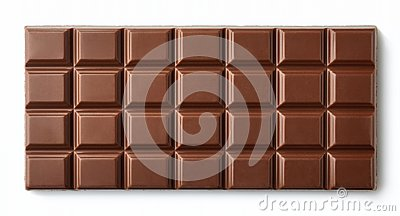 Milk chocolate bar isolated on white background Stock Photo