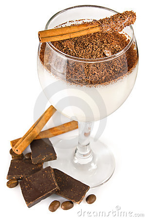Free Milk Cocktail With Chocolate And Spice Stock Photo - 24244440