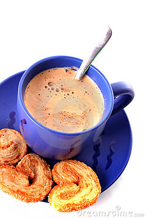 Milk Coffee  And Cookies Royalty Free Stock Photos - Image: 9809168