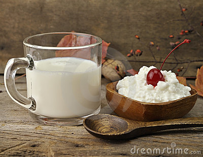 Milk And Cottage Cheese