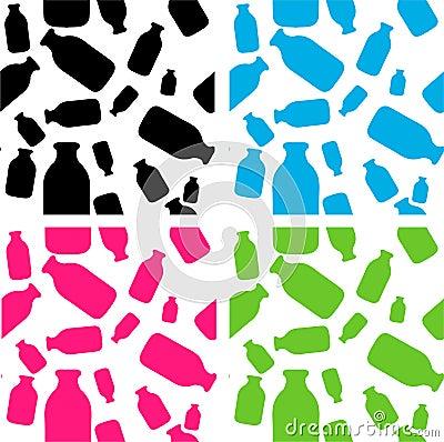 Milk cow milk bottle  seamless