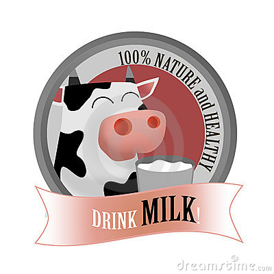 Milk drink label