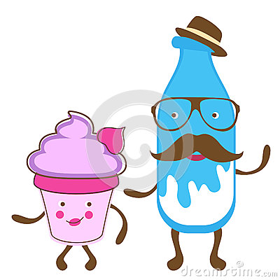 Milk gentleman and miss cupcake