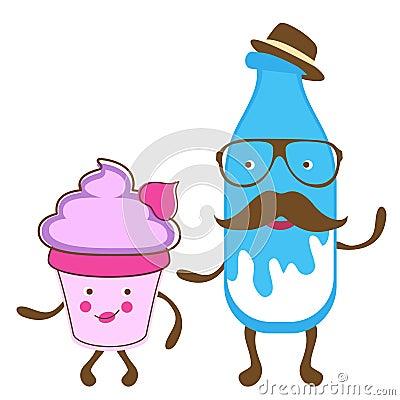 Milk gentleman and miss cupcake