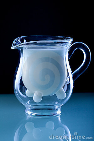 Milk glass jug