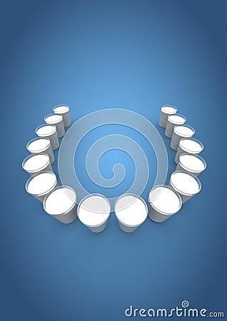 Milk glass teeth