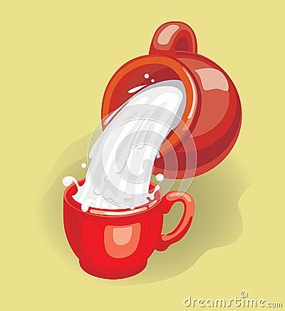 Free Milk (illustration) Royalty Free Stock Photo - 4467995