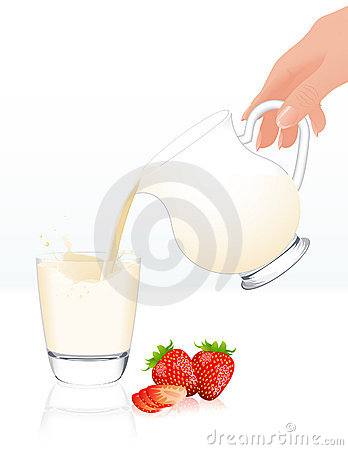 Milk jar isolated