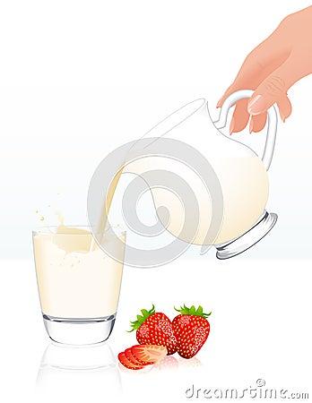 Milk jar isolated