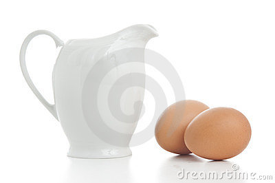 Milk Jug With Eggs