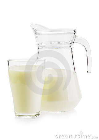 Milk in a jug and glass